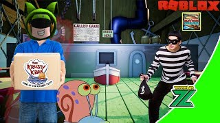 ROBLOX Indonesia | Fast Food Simulator | Keeping the cleanliness & the Krusty Krab security