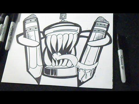 comment dessiner aérosol 2 graffiti youtube