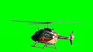 Real Helicopter 1080p - Green Screen