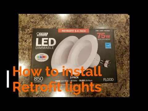 How to install LED RetroFit Costco kit Lights DIY - YouTube