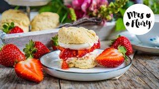 Vegane Scones mit Erdbeeren, 15-Minuten Rezept