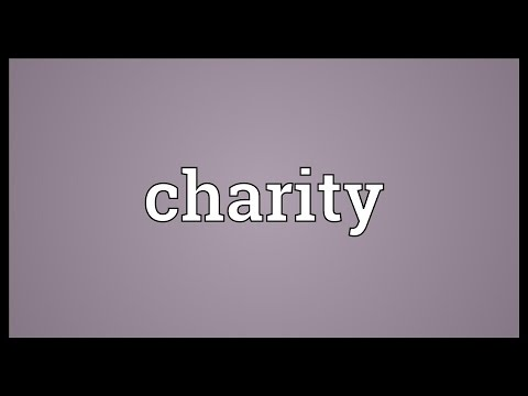 Charity Meaning