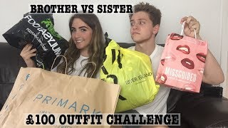One of Simply Katie's most viewed videos: £100 OUTFIT CHALLENGE WITH MY BROTHER ! BROTHER VS SISTER / Simply Katie
