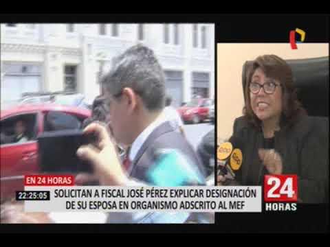 José Domingo Pérez deberá explicar designación de su esposa en organismo adscrito al MEF