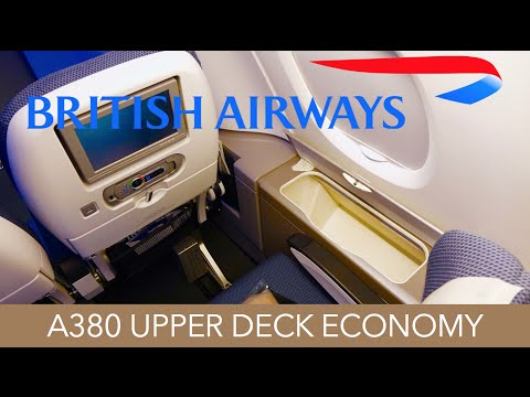 British Airways A380 Upper Deck World Traveller Economy Trip