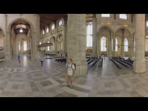 360 VR Interior of St. Lawrence Church in Rotterdam, Netherlands