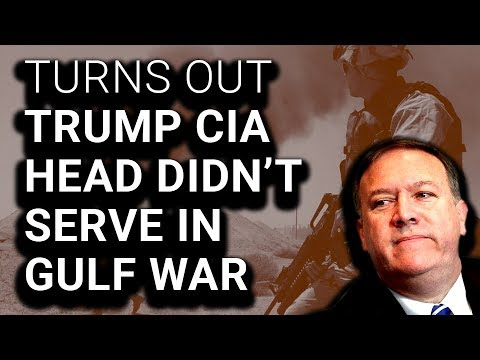 CIA Confirms Mike Pompeo Never Served in Gulf War