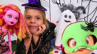 Видео для девочек - Хэллоуин с Элис: превращение в Монстер Хай