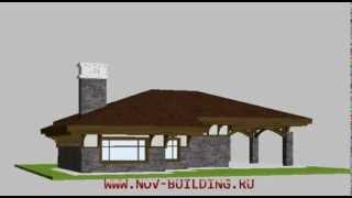 видео Проект удобного одноэтажного дома с сауной и гаражом  D-232-ТП