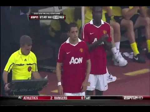 Javier Hernandez Debut and Goal with Manchester United