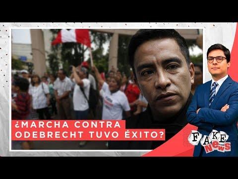 ¿Marcha contra Odebrecht promovida por Vieira tuvo éxito? - Fake News