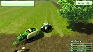 Farming Simulator 2013 - How to Bale Hay, tutorial
