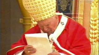 Papież Jan Paweł II w Siedlcach - 10 czerwiec 1999 roku, transmisja TVP (VHS)