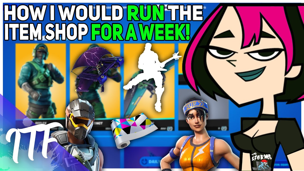 How I Would Run The Item Shop For A Week (Fortnite Battle Royale)