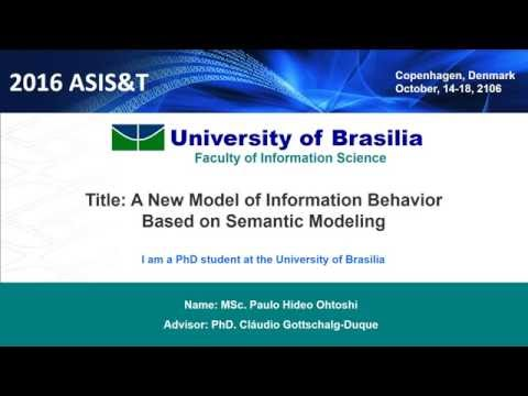 2016 ASIS&T - A New Model of Information Behavior Based on Semantic Modeling