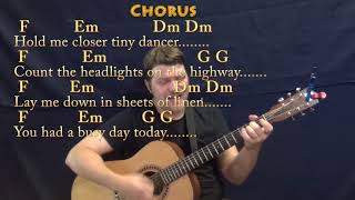 Tiny Dancer (Elton John) Guitar Cover Lesson with Chords/Lyrics - Munson