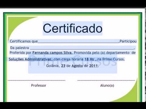 Certificado De Formatura Pronto Youtube