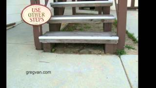Don't Let Wood Stair Stringers Set In Dirt - Design And Construction