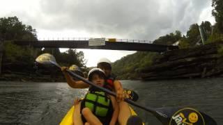 kc loves kayaking in the rain not