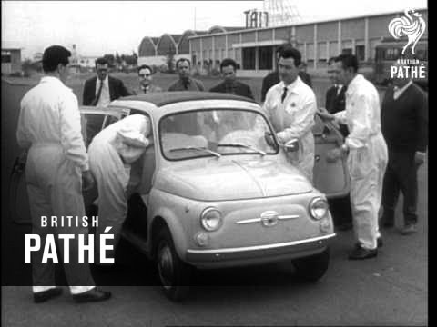 The New Fiat 500 Car (1960)