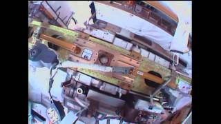 Spacewalk continues prepping of ISS for new docking ports