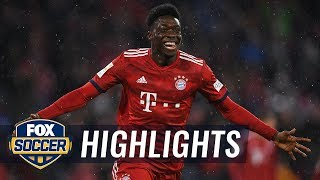 Alphonso Davies scores his first Bayern Munich goal | 2019 Bundesliga Highlights