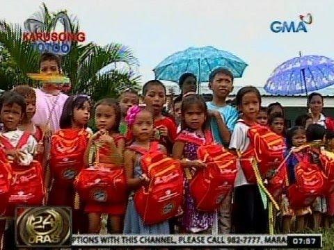 24Oras: Mahigit 1,800 bata sa Mansalay, Oriental Mindoro, nabigyan ng bagong school supplies