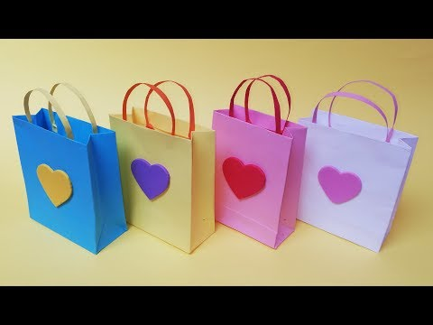 How to make a mini gift bag out of paper