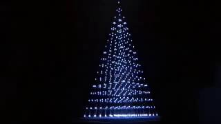 Music LED-Pyramid, 589 LEDs + LED-Stripe