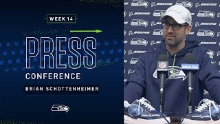 Offensive Coordinator Brian Schottenheimer Week 14 Press Conference   2019 Seattle Seahawks