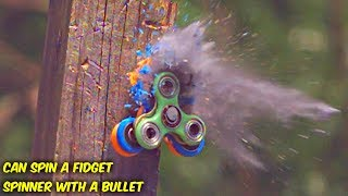 Video Can You Spin a Fidget Spinner with a Bullet? download MP3, 3GP, MP4, WEBM, AVI, FLV Juli 2017