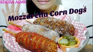 Hi Guys 🤗 These homemade Mozzarella Corn Dogs were so crispy, chees...