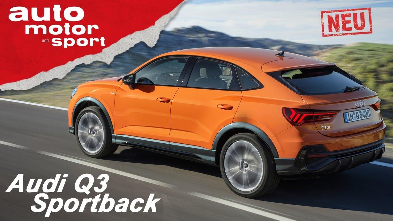 audi q3 sportback 2019 kompaktes suv coupe review sitzprobe auto motor sport