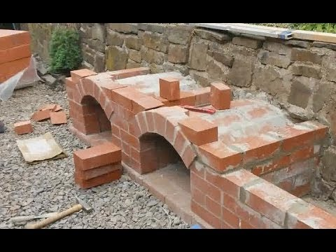 Brick BBQ stove and oven summer projekt pt. 1