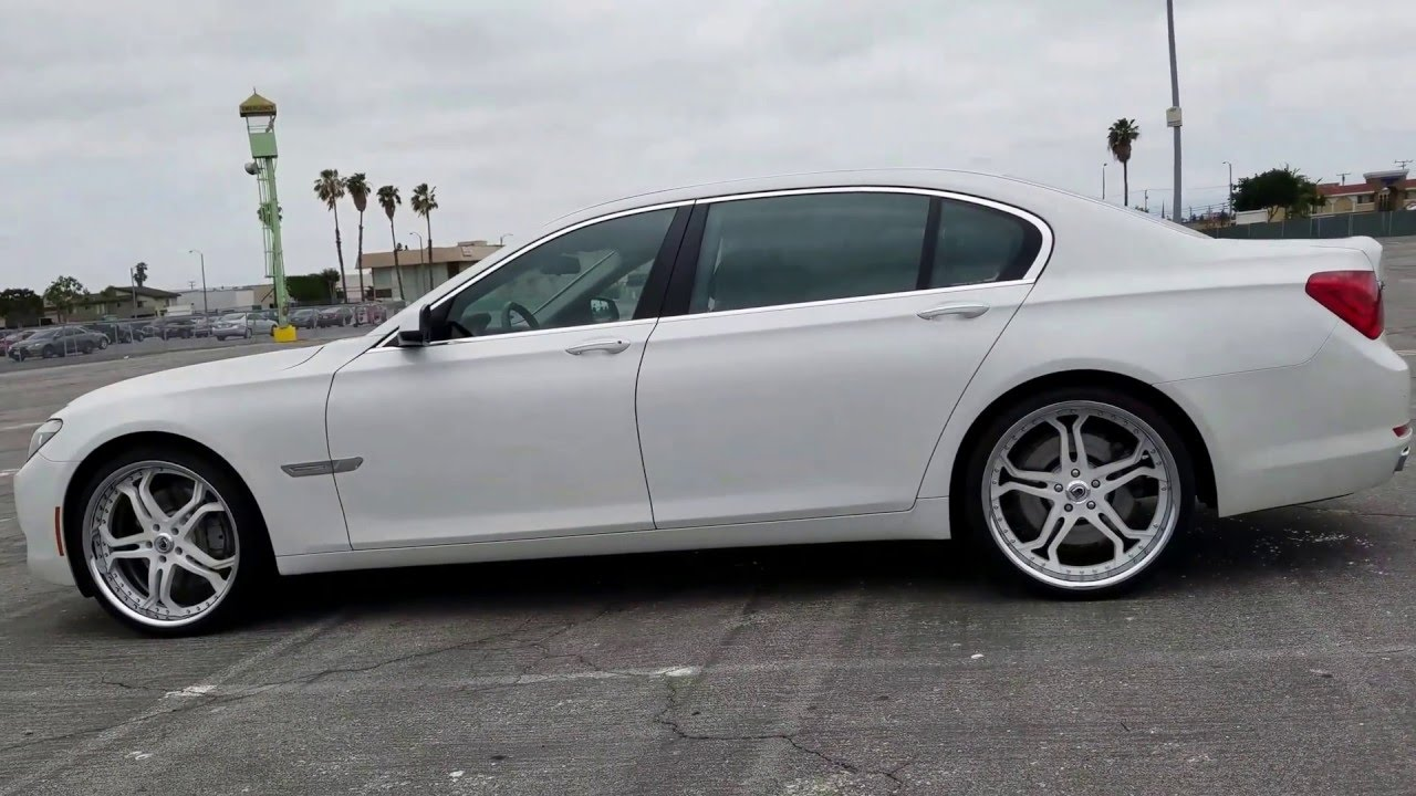 2012 BMW 750 Li 22 Inch Asanti Af173 Alpine White F02 2009 2010 2011 Powder Coat