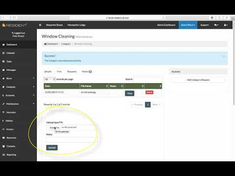 Maintenance Section in SELF Block Management Software - a video guide
