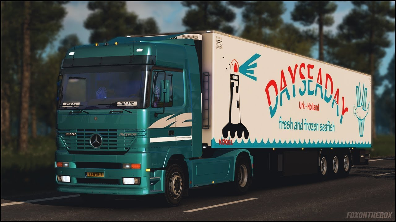 Mercedes Actros Mp1 Euro Truck Simulator 2 Ets2 1 31 Youtube