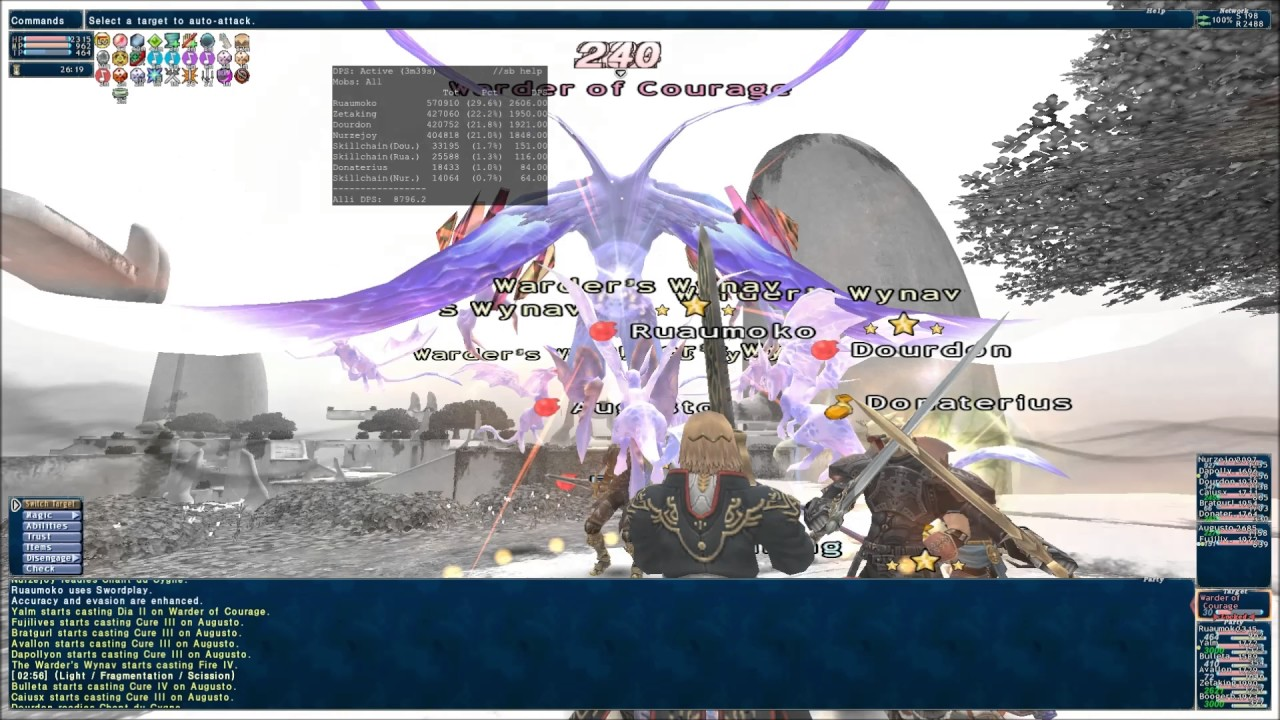 Final Fantasy XI: Warder of Courage (Melee) (Commentary)