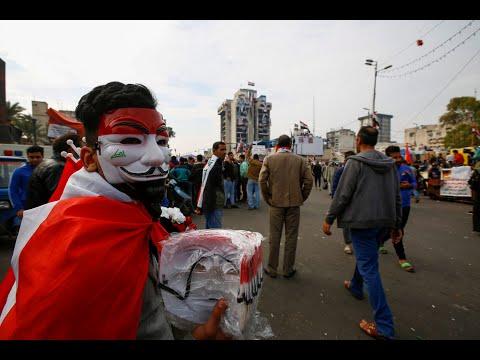 عراقيون يتوافدون من المحافظات إلى بغداد لدعم التظاهرات بمزيد من المحتجين