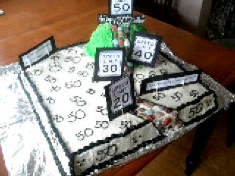 my first over the hill 50th birthday cake YouTube