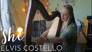 She - Elvis Costello (Harp Cover)