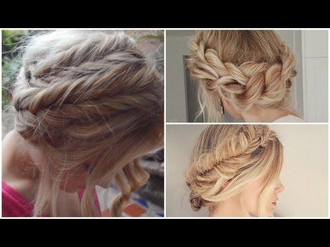 Peinado recogido con trenzas halo braid tutorial - Peinados recogidos con trenzas ...
