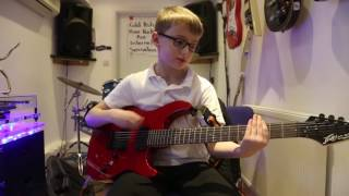 Papercut Linkin Park Guitar Cover By Will age 8