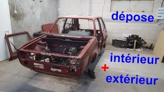 Restauration Golf 1 - Dépose intérieur / extérieur - 🔧3