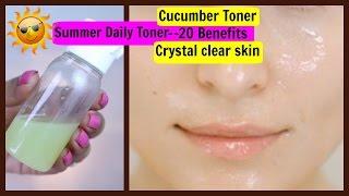 Homemade Cucumber Toner- 20 Benefits For Crystal clear Skin, Detan & Pimple Care | SuperPrincessjo