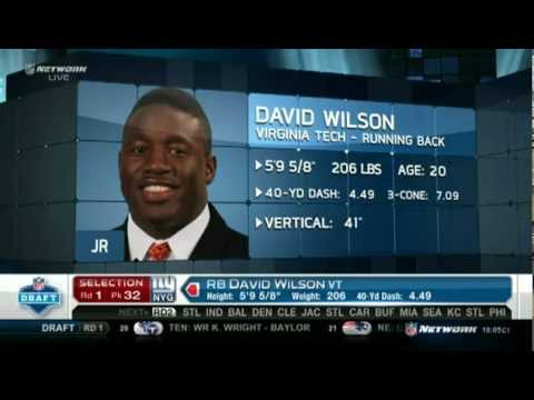 David Wilson-32nd Pick by the New York Giants of the 2012 NFL Draft