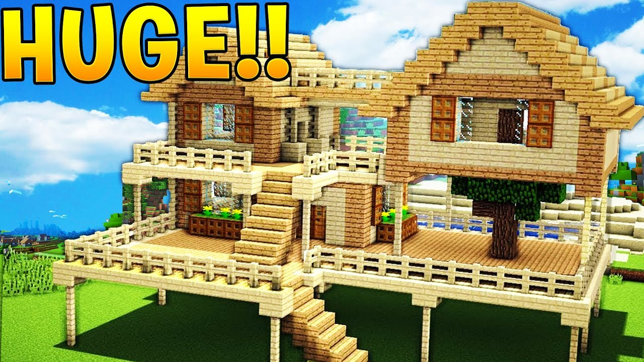 The Biggest House In Minecraft Jeromeasf Youtube