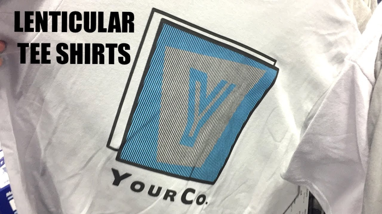Lenticular Screen Printing On T Shirts Youtube