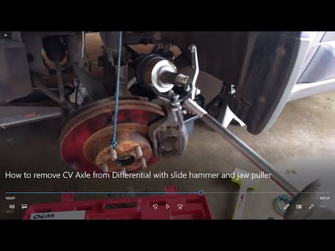 How To Remove A Cv Axle With A Slide Hammer And Jaw Puller Youtube