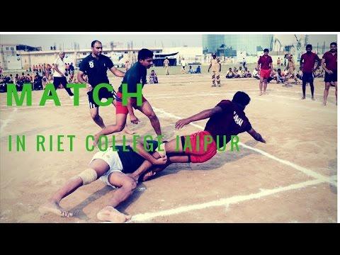 kabaddi match in RIET college jaipur sport#2
